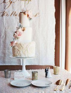 soft romantic cake