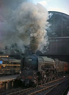 WP Allen, an AI Pacific built Doncaster 1948 pictured departing Londons Kings Cross in early Transport Images, Rail Transport, Diesel Locomotive, Steam Locomotive, Train Car, Train Tracks, Steam Trains Uk, Uk Rail, Steam Railway