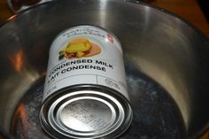 I tried boiling a can of condensed milk to make caramel and I say that it doesn't work!
