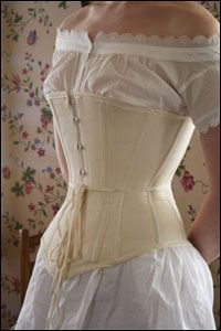 1860s corset, made by the lovely people at Lavender's Green.