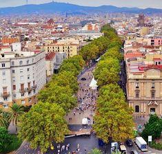 Visit Las Ramblas, Barcelona's most famous avenue Barcelona Las Ramblas, Italy Vacation, Wanderlust Travel, Morocco, Places To Travel, Places Ive Been, Paris Skyline, Cruise, Europe