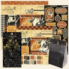 FARMHOUSE Collection Journaling /& Ephemera Cards Graphic 45 4502063 New