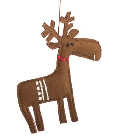 Another great find on #zulily! Melvin Moose Wool Ornament #zulilyfinds
