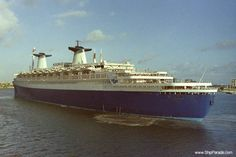 ss Norway arriving in Miami, Florida