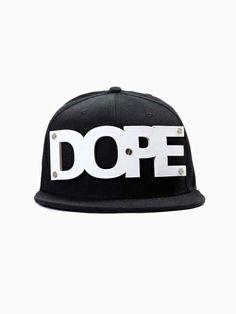 New Look Black DOPE Cap - Choies.com