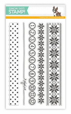 Simon Says Clear Stamps HOLIDAY BORDERS SSS101366 - $14.99