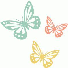 Silhouette Online Store - View Design #38414: butterflies