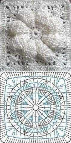 Lindas amostras de crochê - com gráficos