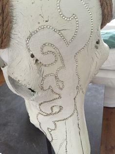 Mooie grote witte skull met Swarovski