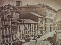 Vista de la calle Alcalá de Madrid en el año 1856, fotografía anónima @SecretosdeMadri