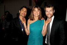 Manu Bennett, Lucy Lawless and Liam McIntyre
