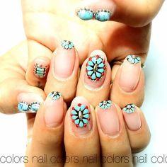 Fun Nails, Nail Colors, Ebisu, Nail Designs, Nail Art, Turquoise, Tattoos, Moon, Tatuajes