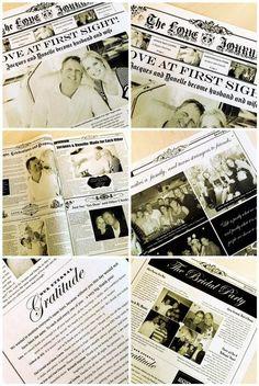 Vintage Wedding Newspaper