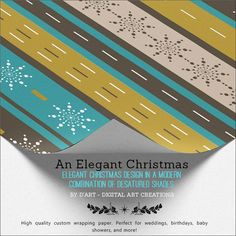 #christmas #xmas #holidays #snowflakes #elegant #classic #luxurious #wrappingpaper #giftwrapping #stripes #christmasholidays #christmasideas #zazzle #zazzler #zazzleshop #digitalartcreations