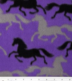 Blizzard Fleece Print- Running Horses: blizzard fleece: fleece fabric: fabric: Shop | Joann.com
