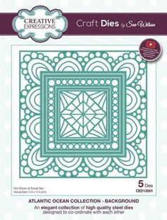 Sue Wilson Atlantic Ocean Background Die - Sue Wilson - Other Dies - Dies & Folders - Crafts, Die Cutting, Cross Stitch Kits, Embossing Folders, Stamps, Jigsaw Puzzles and more!