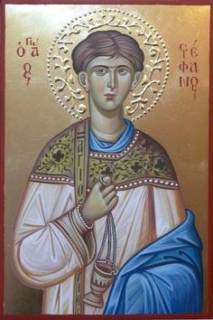Greek Icons, Paint Icon, Saint Stephen, Byzantine Icons, Religious Icons, Orthodox Icons, Christian Gifts, Beautiful Hands, Christianity