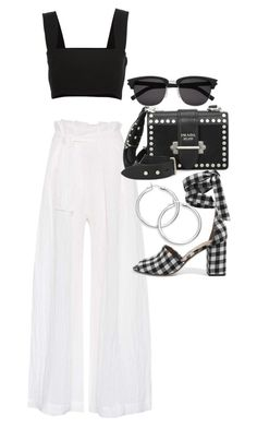 """Untitled #22192"" by florencia95 ❤ liked on Polyvore featuring Three Graces, Yves Saint Laurent, Prada and Sam Edelman"