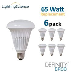 Lighting Science Definity BR30 - 9 Watt - 650 Lumens - Soft White (2700K) - 65 Watt Equal - 6 Pack