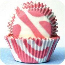 Pink Zebra cupcake holders. Darling.