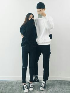 Korean Fashion: Couple Look♥ Great outfit ideas/looks for couples to wear  .