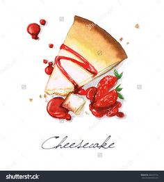 Cheesecake - Watercolor Food Collection Stock Photo 266433716 : Shutterstock