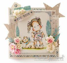 Handmade by Tamara: July Challenge ❀ I am roses Copic, Magnolia Stamps, Scrapbook Cards, Scrapbooking, Easel Cards, Unique Cards, Marker Art, Penny Black, Digi Stamps