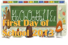 First day of school 2013 - שנת הלימודים - On August 27th 2013 there is a Google Doodle about שנת הלימודים first day of school 2013 on the Israel Google sites.