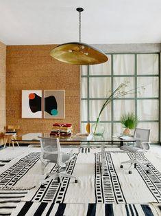 Peek inside the design studio of artisan rug designers and Beni Rugs founders Robert Wright and Tiberio Lobo-Navia. Bloom Coffee, Beni Rugs, Coaster Crafts, Moroccan Design, Moroccan Rugs, World Crafts, Prefab Homes, White Rug, Traditional Rugs