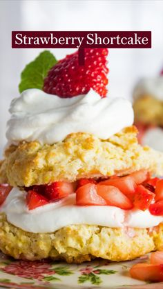 Strawberry Dessert Recipes, Strawberry Shortcake Recipes, Fruit Recipes, Baking Recipes, Shortcake Recipe Easy, Strawberry Lemonade Cake, Summer Desserts, Easy Desserts, Cookies