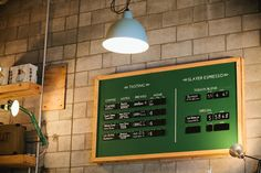 Menu board design for specialty coffee and Slayer Espresso at The Hangar