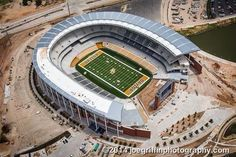 Latest aerial shot of #Baylor's McLane Stadium. #SicEm #45days (July 2014)
