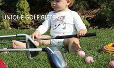 Sweet, hand made golf gifts Golf Gifts, Baby Gifts, Kids Golf, Golfers, Golf Clubs, Bodysuit, Sweet, Handmade, Onesie
