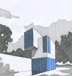 21 Ideas Drawing Architecture Line Architecture Concept Drawings, Architecture Sketchbook, Drawing Sketches, Cartoon Drawings, Art Drawings, Perspective Sketch, Interior Design Sketches, House Sketch, Ligne Claire