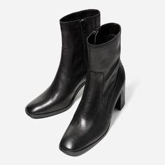 Image 6 of LEATHER HIGH HEEL ANKLE BOOTS from Zara