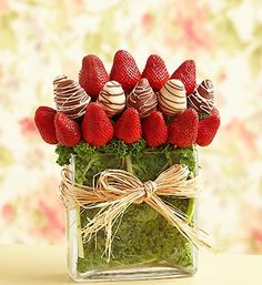 Fresh fruit delivery is fun with delicious fruit arrangements from Fruit Bouquets, fruit baskets to chocolate strawberries & more! Edible Fruit Arrangements, Edible Bouquets, Strawberry Decorations, Fruit Decorations, Chocolate Covered Strawberries, Chocolate Dipped, Fruit Presentation, Strawberry Dip, Chocolate Bouquet
