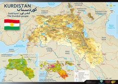 """Though a """"United Kurdistan"""" is unlikely and would politically and geographically infringe on present-day Turkey, Syria and Iraq, this is what it might look like. Kurdistan, Fantasy Map, Alternate History, Historical Maps, Vintage Maps, Middle East, The Unit, Charts, Infographics"""
