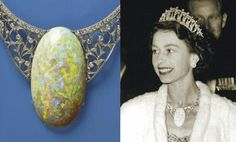 The opal weighs 203 carats and was found at the Andamooka Opal Fields in South Australia in 1949. It is said to be the finest quality opal e...