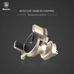 Baseus Universal Car Phone Holder Mechanical Era Auto Clip 360 Rotation Cold Air Vent Car Mount for iphone 7plus & width 57-84mm