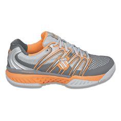K-Swiss Bigshot Shoes (Slvr/Charcoal/Orange) - Men's Shoes - 6.5 M
