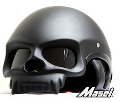 Masei 419 Matt Black Skull Style Chopper helmet with DOT Approval by iMWstore Bike Chopper, Chopper Helmets, Half Helmets, Open Face Helmets, Skull Motorcycle Helmet, Motorcycle Price, Motorcycle Icon, Skull Helmet, Skulls