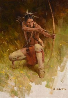 Hunting in Woods, by Z.S. Liang
