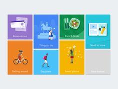 Navigation tiles Google Trips by German Kopytkov #Design Popular #Dribbble #shots
