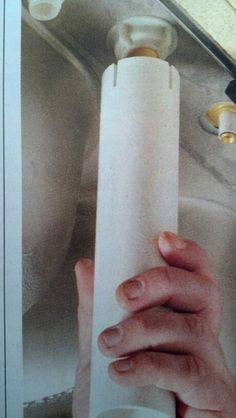 """DYI tool to install  faucet locking nuts.    Cut an18"""" section of 1 1/4"""" PVC pipe.  Then cut four 1/4"""" slots at one end 90 degrees apart.  Hand tighten with ease.   From: The Family Handyman magazine May 2013."""