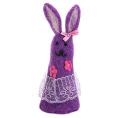Niedlicher Eierwärmer Aufsteller Hase Filz Filzaufsteller lila