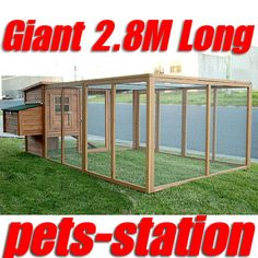Giant Chicken Coop 3.65m For Up To 12 Chickens, Rabbit Hutch Hen Chook House