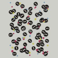 soot sprites in spirited away eating candy