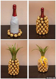 Wine and chocolate pineapple.