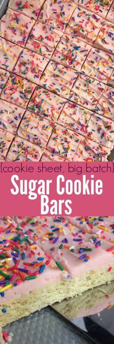 {cookie sheet, big batch} Sugar Cookie Bars