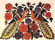Мария Приймаченко Павлины в цветах (1971)